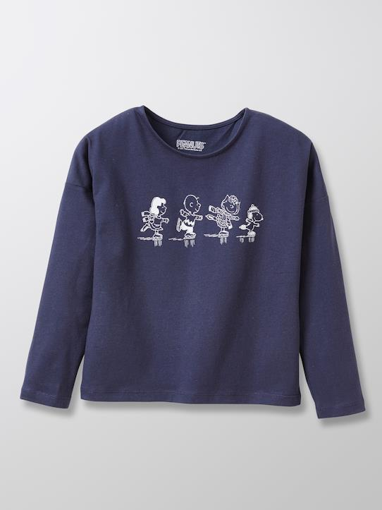 Mädchen-T-Shirts, Poloshirts-Kinder T-Shirt Cyrillus X Peanuts® – Collection Snoopy