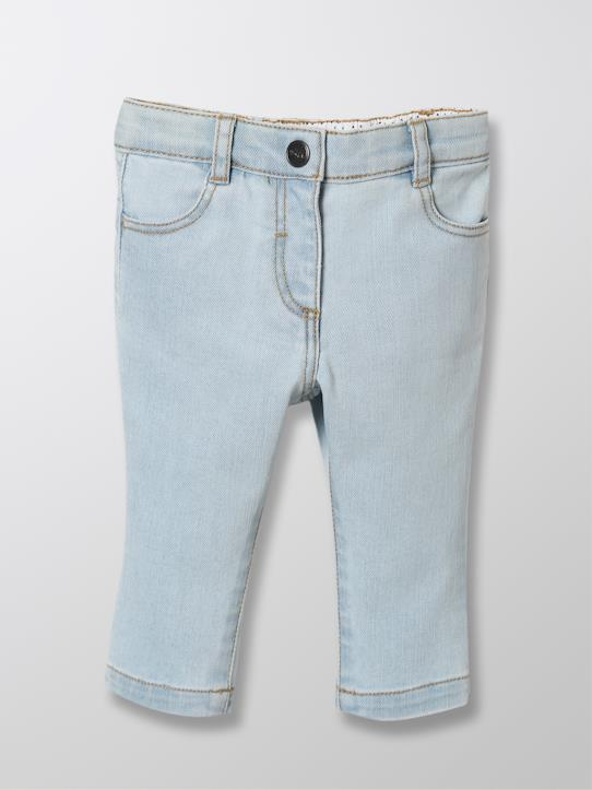 Blue and Denim-Baby Slim Fit Jeans