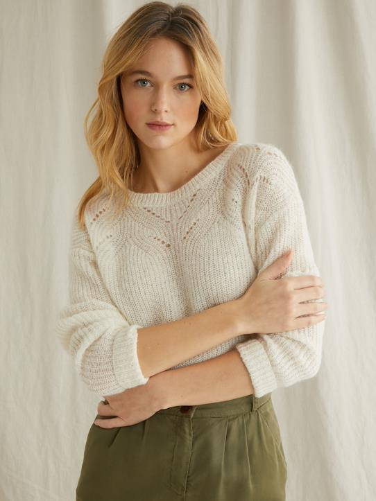Damen-Pullover, Strickjacken-Weicher Damen-Strickpullover