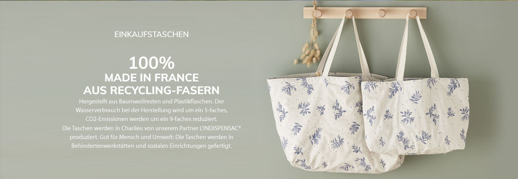 100% MADE IN FRANCE AUS RECYCLING-FASERN